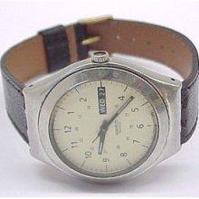 Swatch Stainless Steel Swiss Quartz Movement Wristwatch