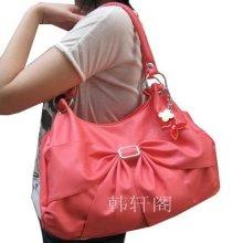 Sweet Lady's Bowknot Decorated Satchel Handbag Purse Shoulder Bag Sling Bag