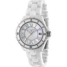 Swiss Legend 20050-wwsr White W/ Ss Karamica Ceramic Watch For Women