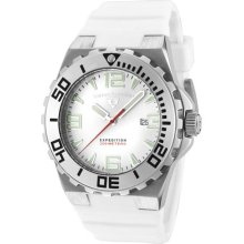 SWISS LEGEND Men's Expedition White Dial White Silicone