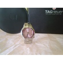 Tag Heuer Alter Ego Stainless Steel Swiss Quartz Ladies Watch Pink Face