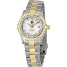 Tag Heuer Aquaracer Diamond Set Bi-metal Bracelet Ladies Watch Waf1450.bb0825