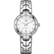 Tag Heuer Women's Link Mother Of Pearl & Diamonds Dial Watch WAT1315.BA0956