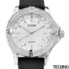 Techno wa006742 Brand New Diamond Quartz Watch