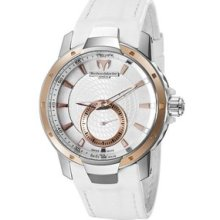 TechnoMarine Ladies UF6 White Leather Watch 609019