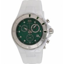 Technomarine Watches Cruise Sport Green Dial White Silicon Quartz Chro