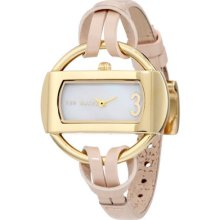 Ted Baker Te2076 Women's Analogue Leather Band White Mop Dial Watch