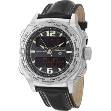 Timberland Men's 'Steprock' Stainless Steel Leather Quartz Watch