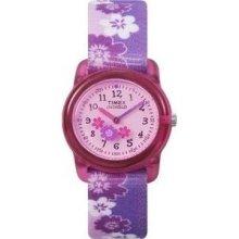 Timex Children's T7B011 Purple Cloth Quartz Watch with Pink Dial