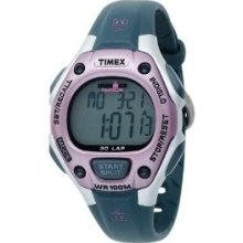 Timex Women's 30-lap Triathlon Chronograph Sport Resin Band Light Watch Indiglo
