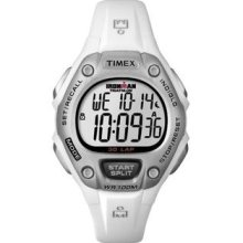Timex Women's T5K515 Ironman Traditional 30-Lap White/Silver