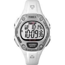 Timex Women's T5K515 Ironman Traditional 30-Lap White/Silver
