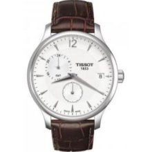 Tissot T0636391603700 Watch T classic Tradition Mens - Silver Dial Stainless Steel Case Quartz Movement