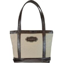 Tote - Trust - Tan / Brown - Micro Fiber And Lux Leather 2012