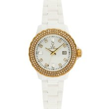 Toy Watch Plasteramic White and Gold N32208-WHG