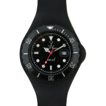 Toywatch Men's Plastic Strap Black Dial Watch