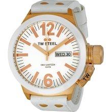 TW Steel Men's CE1035 CEO White Leather Strap Watch TW Steel - CE1035