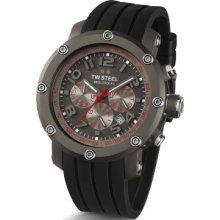 Tw Steel Men's Quartz Watch Grandeur Tech Tw-612 With Rubber Strap