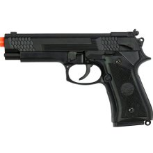 Ukarms 8945 Full Size Tactical M9 1911 Metal Spring Airsoft Pistol Black