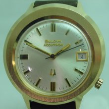 Unused Vintage 1970's Bulova Accutron Date Gp Men's Watch