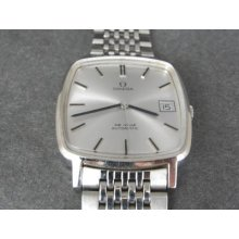Vintage 0mega De Ville Swiss Made Stainless Steel Date Automatic Mens Watch