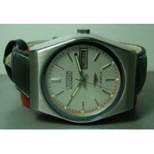 Vintage Citizen Automatic Day Date 4038665 Mens Wrist Watch Used Antique F959
