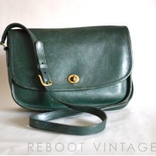 Vintage COACH NYC City Bag in Lovely Green 9790 - Renewed