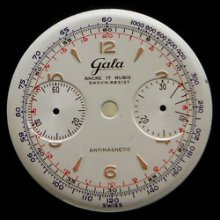 Vintage Gala Chronograph Watch Dial 50's
