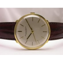 Vintage Iwc Schaffhausen 18k Yellow Gold Manual Wind Mens Watch