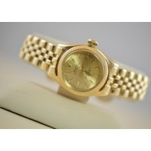 Vintage Ladies 1947 Rolex Oyster Perpetual 18k Solid Gold 6619 Needs Service