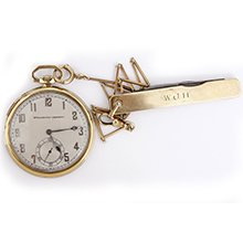 Vintage Longines Pocket Watch, Chain And Pocket Knife For Spaulding & Gorham