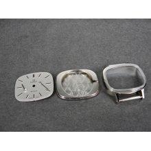 Vintage Omega De Ville Ladies Watch Dial & Case & 2 Hands For 625 & 620 Movt