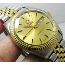 Vintage Rado President 2 Tone Gold Dial Automatic Gents.