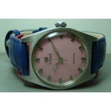 Vintage Tissot Seastar Winding Swiss Mens 12881114 Pink Watch Old Used Antique