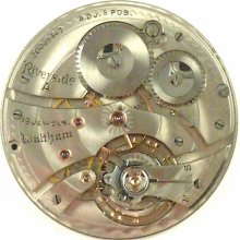 Waltham Riverside A Complete Running Pocket Watch Movement - Parts / Repair