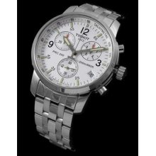 White Dialed Genuine 200m Tissot Prc200 Chronograph Sapphire T17.1.586.32
