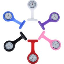 Women Girl Silicone Nurse Quartz Brooch Breastpin Tunic Watch Gift