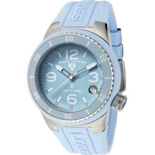Women's Neptune (40 mm) Baby Blue Dial Baby Blue Silicone ...