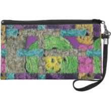 Wristlet with Crochet Collage