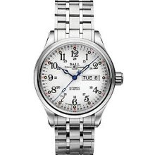 Ball Trainmaster wrist watches: 60 Seconds White Dial nm1058d-s3-wh