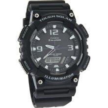 Casio Solar Mens Analog-Digital Black Dial Alarm Quartz Watch AQS810W-1AV