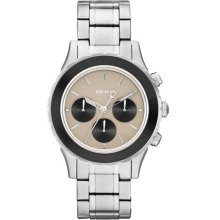 DKNY Watch, Womens Chronograph Stainless Steel Bracelet 42mm NY8768