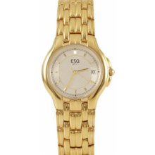 ESQ Elan Mens Silver Dial Gold Tone Bracelet Dress Swiss Quartz Watch 07300467