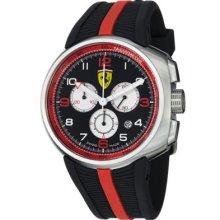 Ferrari Men s Fast Lap Swiss Made Quartz Chronograph Black Rubber Strap Watch