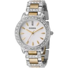 Fossil Watch ES2409 Womens Two-Tone Mixed Metal Bracelet Sparkle Gli