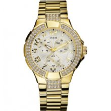 Guess Gold Tone Prism Crystal Ladies Watch G13537L