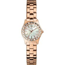 Guess U0025L3 MOP Dial Rose Gold Tone Stainless Steel Women's Watch