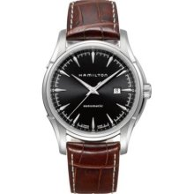 Hamilton H32715531 Watch Jazzmaster Mens - Black Dial Stainless Steel Case Automatic Movement
