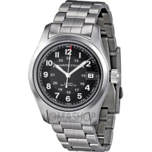 Hamilton H70455133 Watch Field Mens Black Dial Stainless Steel Swiss Automatic
