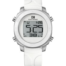Hugo Boss Orange White Rubber Digital Men's Watch 1512677